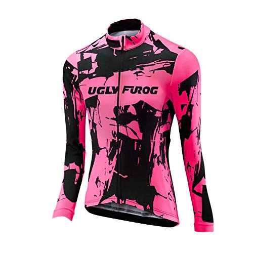Uglyfrog 2018 Damen Fahrrad Winter with Fleece Männer Radfahren Langarm Radfahren Jersey eine Menge Farben Antislip Ärmel Road Bike MTB Top Riding Shirt (Just Dance 4 Xbox 360)