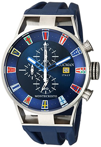 Locman Italy Men's Analog Quartz Watch with Rubber Strap 051000BLFLAGGOB