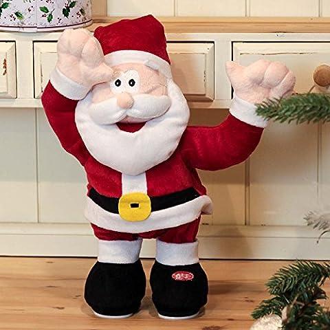 Tanzende und singende Weihnachtsfiguren, batteriebetrieben (Weihnachtsmann)