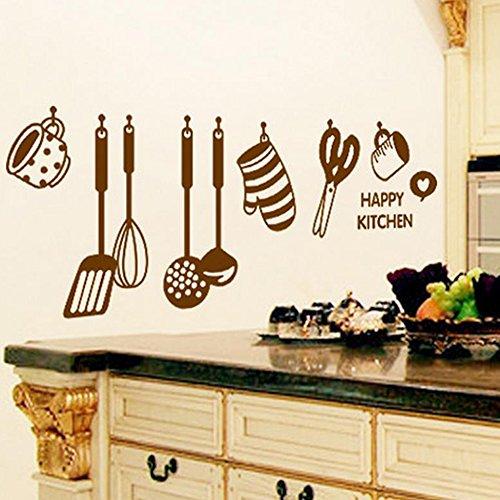 Lubier - Adesivi da parete rimovibili, decorativi per cucina, con ...