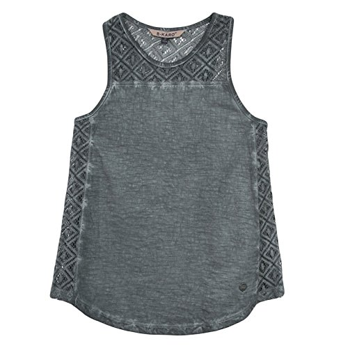 b-karo-noir-peche-t-shirt-fille-gris-gris-anthracite-small-taille-fabricant-s