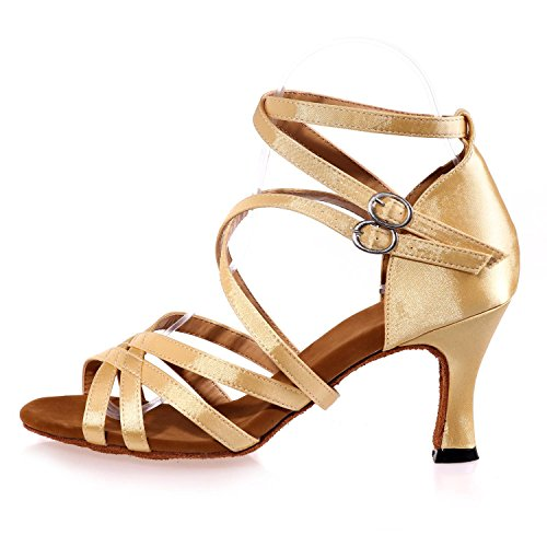 L@YC Scarpe Da Ballo Femminile Da Ballo Latin / Satin / Sandali Da Ballo (Colore) # Brown