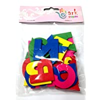 30 Brightly Coloured Wooden Painted Upper case Alphabet Letters A-Z by arkCRAFT