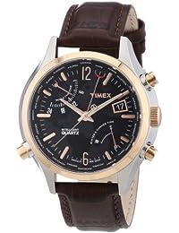 Timex Herren-Armbanduhr XL IQ World Time Analog Leder T2N942