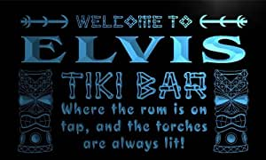 pm673-b Elvis Tiki Bar Mask Beer Neon Light Sign