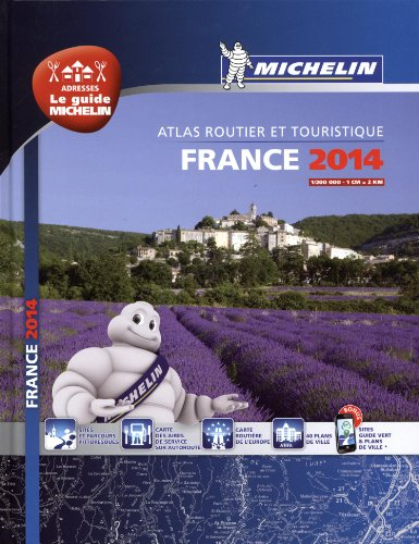 Atlas Routier France 2014 Michelin Relié A4