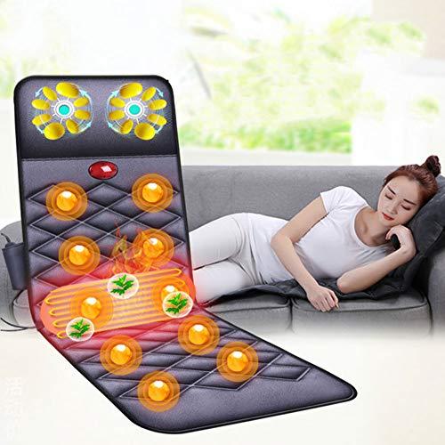 Q&z elettronico massaggiatore,lettino di massaggio cuscino per massaggio vibrante riscaldato lettino massaggiante full body con 10 motori 9 modalità per casa ufficio auto