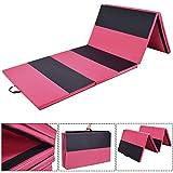 Blitzzauber 24 Yogamatte Sportmatte Fitnessmatte Gymnastikmatte Weichbodenmatte Turnmatte Spielmatte faltbar Rot und Schwarz