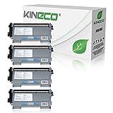 4 Toner kompatibel zu Brother TN2010 TN-2010 für Brother DCP-7055 W, DCP-7057, HL-2130 R, HL-2132 R, HL-2135 W, Schwarz je 3.000 Seiten