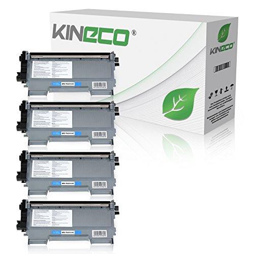 Kineco 4 Toner kompatibel für Brother TN2010 TN-2010 für Brother DCP-7055 W, DCP-7057, HL-2130 R, HL-2132 R, HL-2135 W, Schwarz je 3.000 Seiten