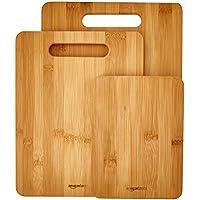 AmazonBasics - Set di 3 taglieri in bambù - Igienici Professionale