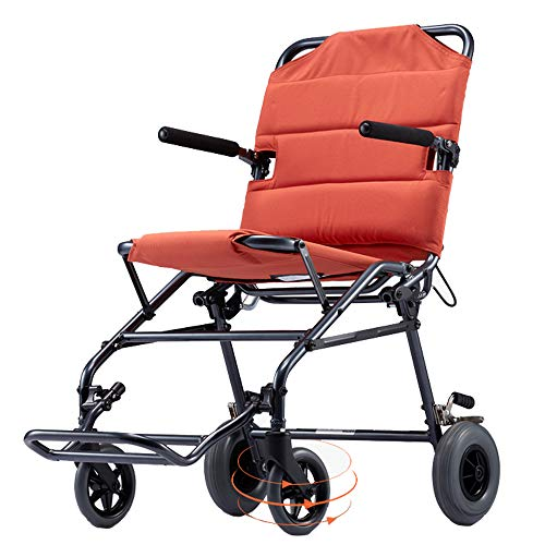 DWhui Rollstuhl-Falten Leichtbau-Boarding Available Solid Tire Safety Brake Pedal Transport Portable Travel geeignet für Menschen mit eingeschränkter Mobilität (Zubehör Stuhl, Mobilität,)
