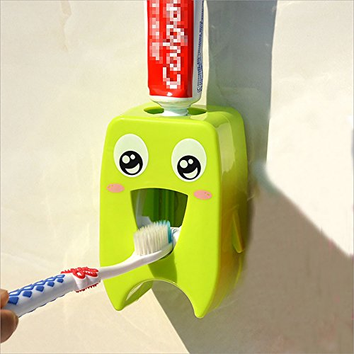 Etelux Cute Cartoon Dispensador de Pasta de Dientes, Auto Lazy Exprimidor