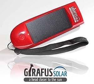 4in1 Solar 800mAh Akku iPhone&Handyladegerät+LED Taschenlampe+Dynamo+Kurbel+SOS