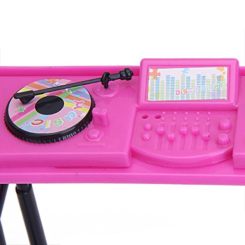 MagiDeal Set di Console Musica per Bambola Barbie Accessori