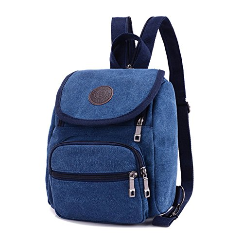 Z-P Unisex Canvas Casual Daypack Laptop Bag Schoolbag Travel Storage Backpack (Tote Leder Studded)