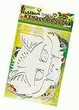 folia 23259 - Waldtiere Kindermasken, 6 Stück, Motive sortiert, weiß