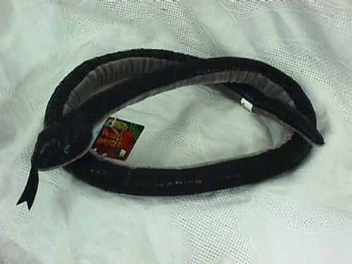 "Wildlife Artists 55"" Black Mamba Snake Plush Stuffed Animal Toy"