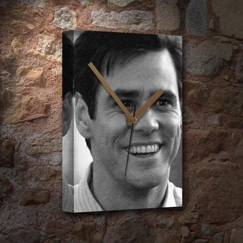 JIM CARREY - Canvas Clock (LARGE A3 - Signed by the Artist) #js001
