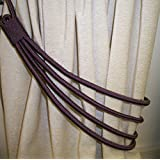 Mauve Purple Cord Band Curtain Tie Back /Tieback