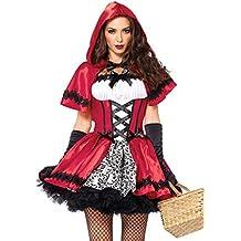 Leg Avenue - Costume da Cappuccetto Rosso ribelle, modello corto da donna