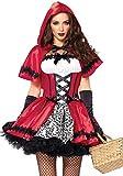 Rebellisches Rotkäppchen Damen-Kostüm von Leg Avenue Gothic Red Riding Hood, Größe:XL/XXL
