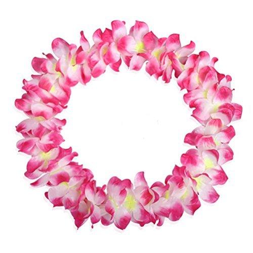 arlai-Pack-de-6-Pre-Kindergarten-juguetes-hawaiano-de-volantes-imitacin-de-seda-flores-collares