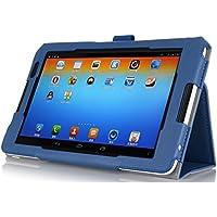 IVSO Slim-Book Stand Case Custodia in pelle PU con Supporto per Lenovo IdeaTab A8-50 8-Inch Tablet (Blu)