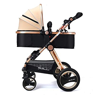 YBL High Landscape Toddlers Prams 2 in 1 Cheap from Birth Newborn Pushchairs Baby Strollers fold Two Way with Cup Holder and Meal Plate  For-Your-Little-One Ltd.