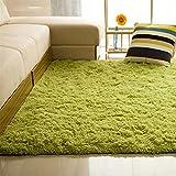 ALCYONEUS, tappeto morbido, rettangolare, antiscivolo. Adatto per il pavimento di camera da letto o soggiorno, Grass Green, 40*60cm