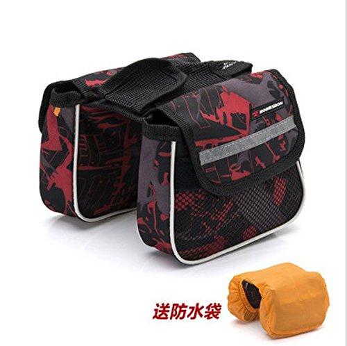 XY&GKMountainbikes Balken Taschen Fahrradtaschen Overhead Taschen Sattel Taschen, machen Ihre Reise angenehmer gules