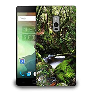Snoogg Green Trees Printed Protective Phone Back Case Cover Fpr OnePlus One / 1+1