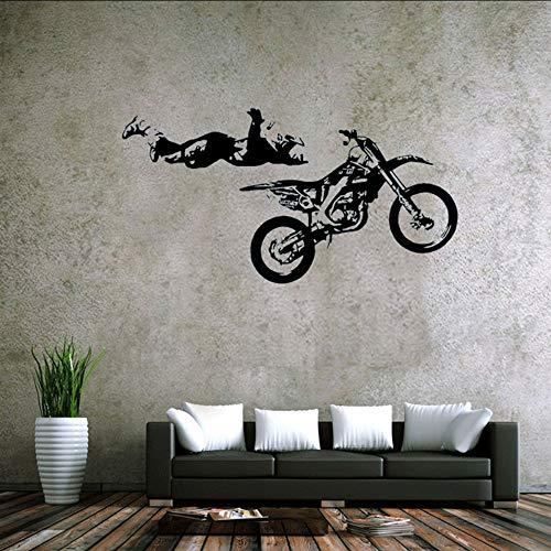 Makeyong Sport Thema WandtattoosStil Extreme Racing Cool Und Stunt Rcycle Racer Aufkleber Für Wohnzimmer Heim Und Büro Decor37X57Cm