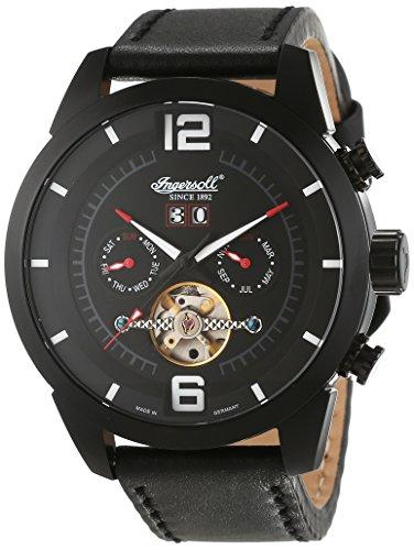 Ingersoll IN1707BKBK - Reloj para Mujeres, Correa de Cuero Color Negro