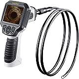 Laserliner VideoFlex G3 - cámaras de inspección industriales (Flexible-Obedient probe, Negro, Color blanco, IP68, 720 x 480 Pixeles, Resistente al polvo, Resistente al agua, 720 x 480)