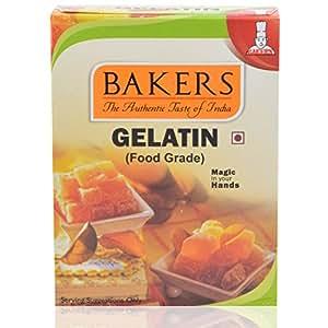 Bakers Gelatin (Food Grade) 50 grams (Pack of 3)