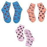 XIAXIACP Ski Socken, warme Lange Brüste Persönlichkeit Lip Zahnbürste Socken Mischgewebe Outdoor Winter für Teenager und Studenten Socken 3 Paar,C