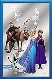 empireposter - Frozen - Snow Queen Group - Größe (cm), ca. 20x30 - Bedruckter Spiegel, NEU - Beschreibung: - Bedruckter Wandspiegel mit blauem Kunststoffrahmen in Holzoptik -