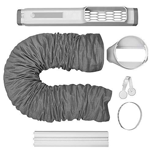 Electrolux EWK01 Airoundio/Chillflex (Premium Fenster-Set-ideal für portable Klimaanlagen, schnell & einfach installiert, stabile Verriegelung, 15 cm Durchmesser) (Zertifiziert und Generalüberholt)