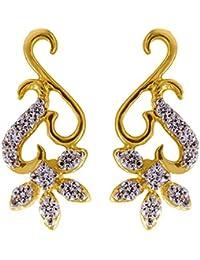 Joyalukkas 18k Yellow Gold and Diamond Stud Earrings for Women