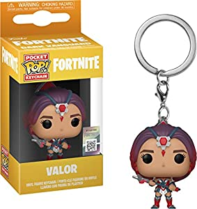 LAST LEVEL- Keychain Pocket Llavero Pop FORTNITE: Valor, Multicolor (Funko 1)