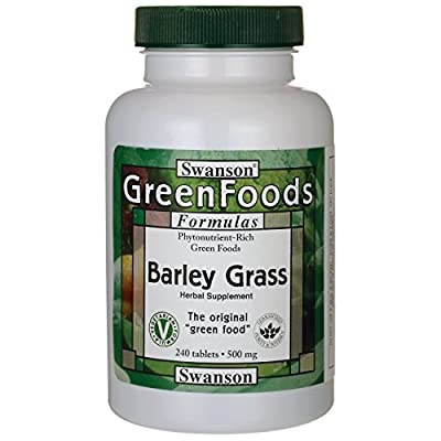 Swanson GreenFoods Barley Grass (500mg, 240 Tablets) by Swanson Health Products