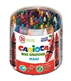 CARIOCA MAXI WAX | 42388 - Scatola Pastelli a Cera Maxi, Colori Assortiti, 50 pezzi