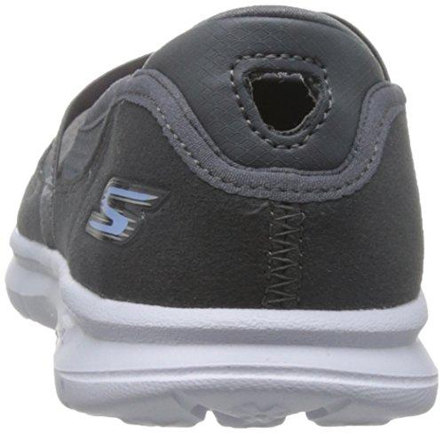 Skechers Aller étape D'origine 14213 Chaussures Noir Gris