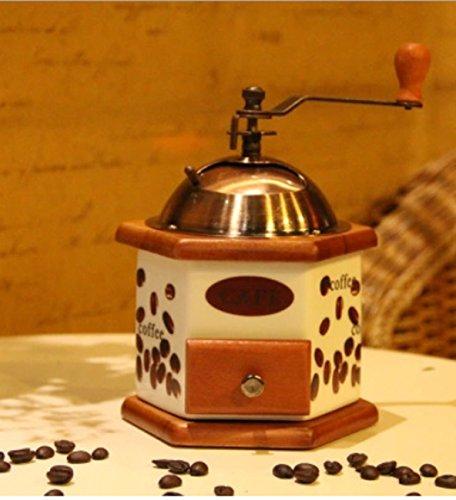 DANDANJIE Kaffeemühle Schublade und Keramik-Mahlfräser, einstellbar, manuelle Kaffeemühle...