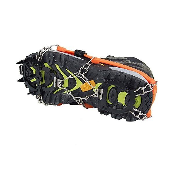 Crampones - SODIAL(R) 2 x zapatos de crampones de 12 dientes de garras antideslizantes cadena de cubierta de acero… 3