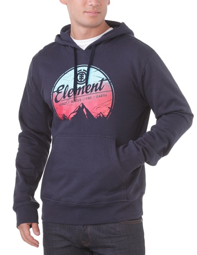 Element Herren Sweatshirt Sunset HO, total Eclipse, L, L1HOB2 Printed French Terry Hoodie