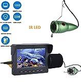 J.W. Fish Finder Unterwasserkamera, 4,3'Zoll 1000tvl Angeln Videokamera Kit mit Sensor, 6 STÜCKE IR...