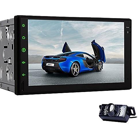 Android bluetooth pantalla 4.4 Kitkat coche Navegaci¨®n Ninguno-DVD GPS unidad principal est¨¦reo Radio Alta Definici¨®n t¨¢ctil