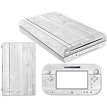 Nintendo Wii U Skin Design Foils Pegatina Set - White Wood Motivo